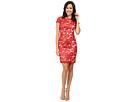 Calvin Klein Short Sleeve Lace Sequin Sheath Dress CD6B1X6R