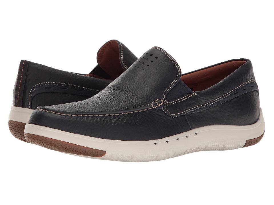 Clarks Un.Maslow Easy (Navy Tumbled Leather) Men