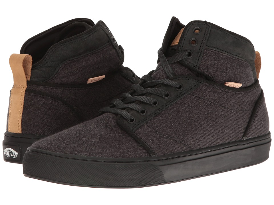 Vans - Alomar ((Stealth Fleck) Black/Black) Skate Shoes