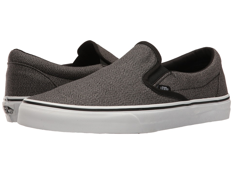 Vans - Classic Slip-On ((Suiting) Black/True White) Skate Shoes
