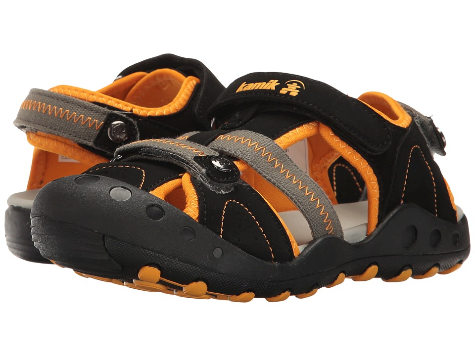 Kamik Kids - Twig (Little Kid/Big Kid) (Black/Orange) Boys Shoes