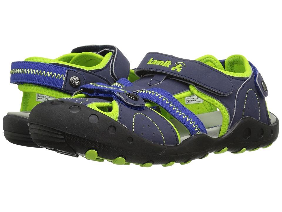 Kamik Kids Twig (Toddler) (Navy/Lime) Boys Shoes