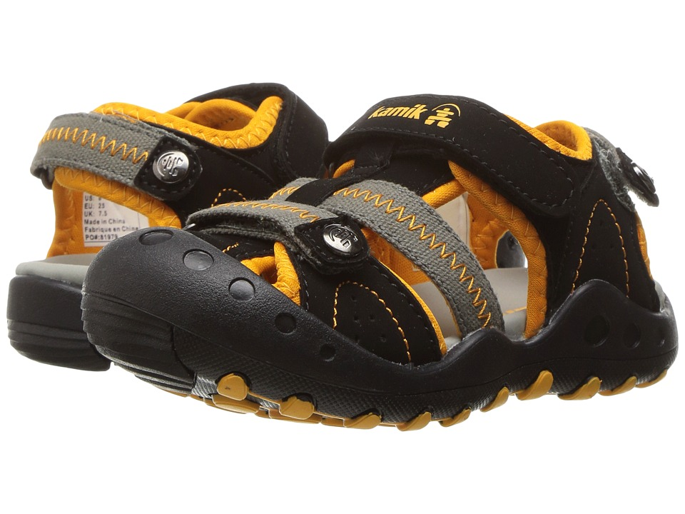 Kamik Kids - Twig (Toddler) (Black/Orange) Boys Shoes