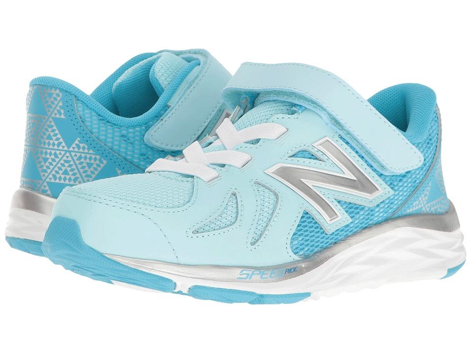 New Balance Kids - 790v6 (Little Kid) (Blue/Silver) Girls Shoes