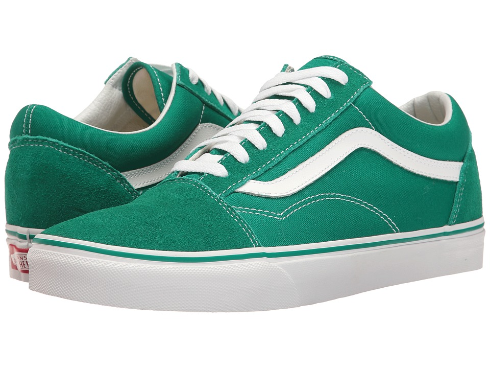 Vans - Old Skooltm ((Suede/Canvas) Ultramarine Green/True White) Skate Shoes