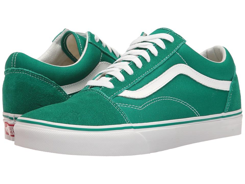Vans - Old Skooltm ((Suede/Canvas) Ultramarine Green/True White) Skate Shoes