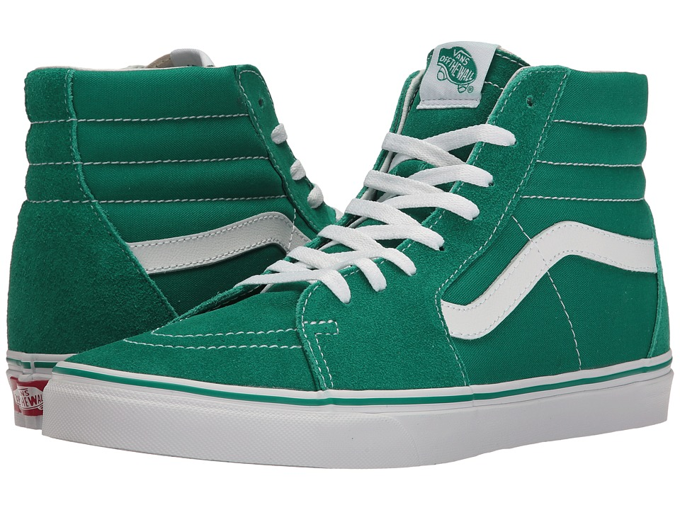 Vans - SK8-Hitm ((Suede/Canvas) Ultramarine Green/True White) Skate Shoes