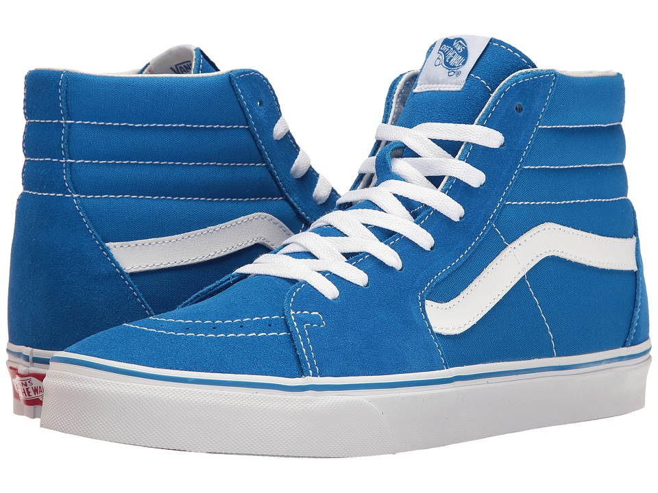 Vans - SK8-Hitm ((Suede/Canvas) Imperial Blue/True White) Skate Shoes