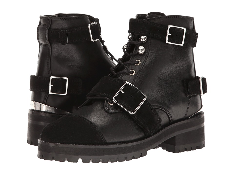 The Kooples - Mix Smooth and Suede Leather (Black) Women's Boots