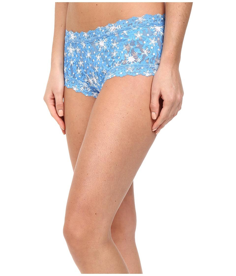 Hanky Panky - Snowflake Boyshorts (Blue/White) Women's Underwear