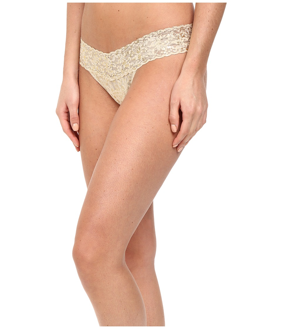 Hanky Panky - Golden Leopard Low Rise Thong (Sand) Women's Underwear