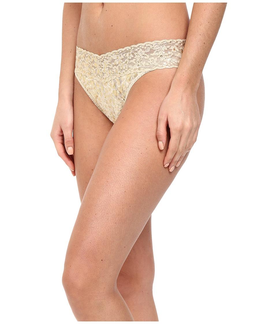 Hanky Panky - Golden Leopard Original Rise Thong (Sand) Women's Underwear