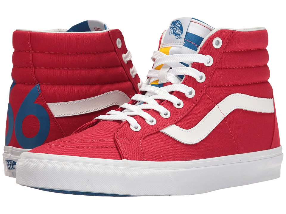 Vans - SK8-Hi Reissue ((1966) Red/Blue/True White) Skate Shoes