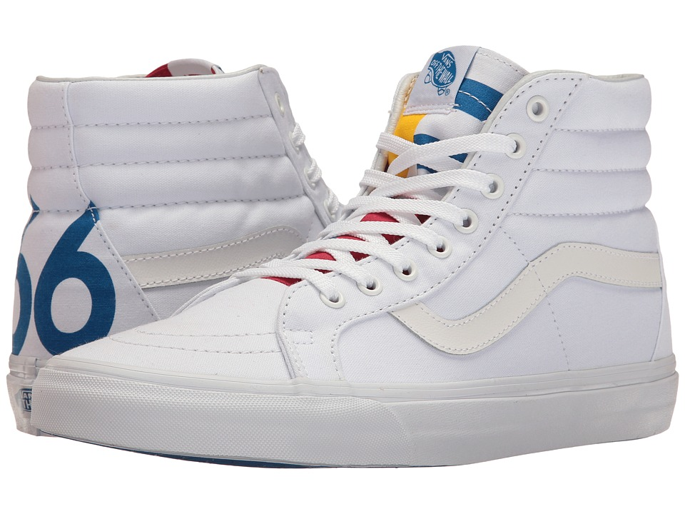Vans - SK8-Hi Reissue ((1966) True White/Blue/Red) Skate Shoes