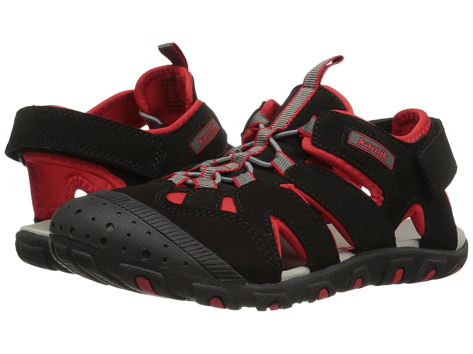 Kamik Kids - Oyster (Toddler) (Black/Red) Boy's Shoes