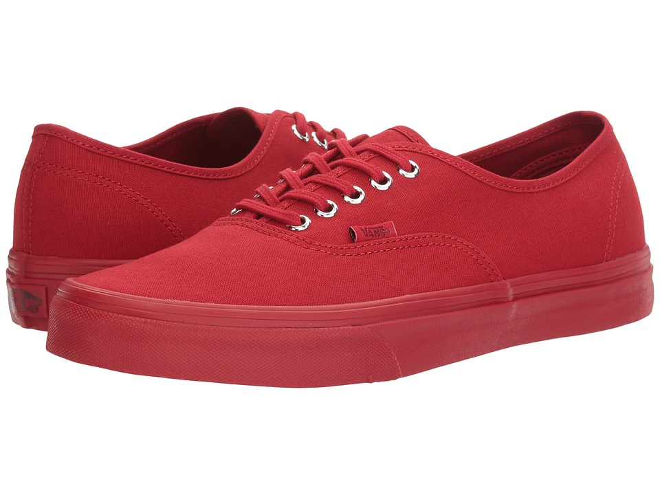 Vans - Authentic ((Primary Mono) Red/Silver) Skate Shoes