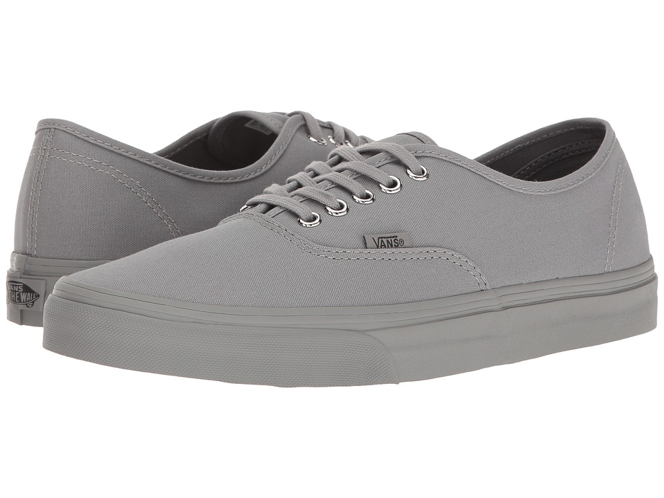 Vans - Authentic ((Primary Mono) Frost Gray/Silver) Skate Shoes