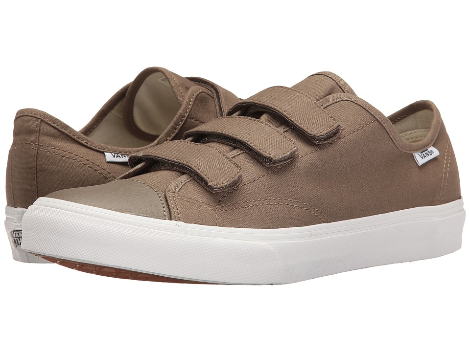 Vans - Style 23 V ((Canvas) Walnut/True White) Skate Shoes
