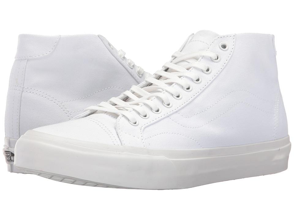 Vans - Court Mid ((Canvas) True White) Men's Skate Shoes