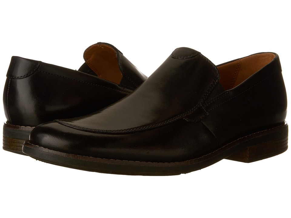 Clarks - Becken Step (Black Leather) Men's Shoes