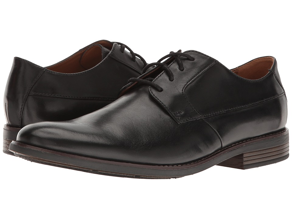 Clarks Becken Plain (Black Leather) Men