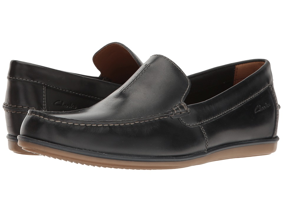 Clarks Bristow Race (Navy Leather) Men