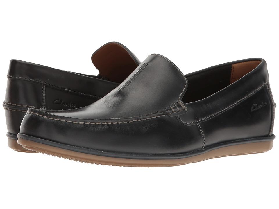 Clarks - Bristow Race (Navy Leather) Men's Shoes