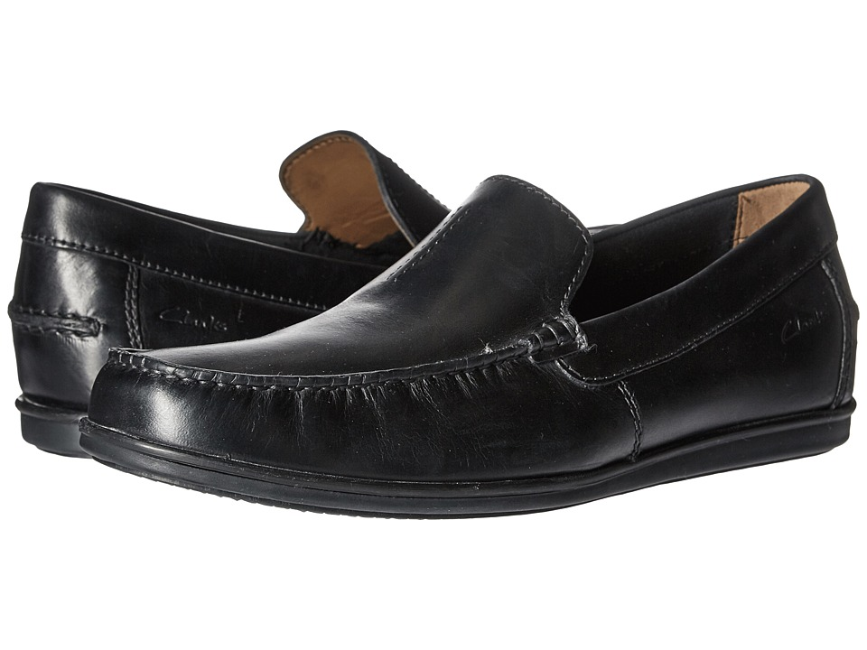 Clarks - Bristow Race (Black Leather) Men's Shoes
