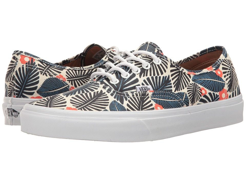 Vans - Authentictm ((Tropic Havana) Classic White/French Blue) Skate Shoes