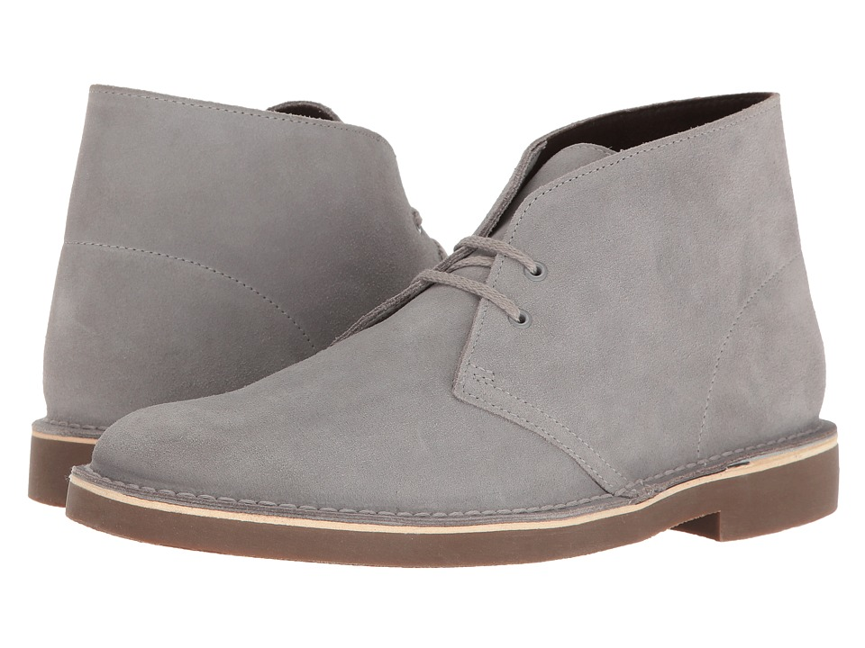 Clarks Bushacre II (Light Grey Suede) Men