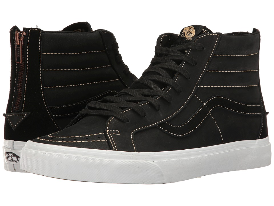 Vans - SK8-Hi Reissue Zip ((Premium Leather) Black/Sand) Lace up casual Shoes