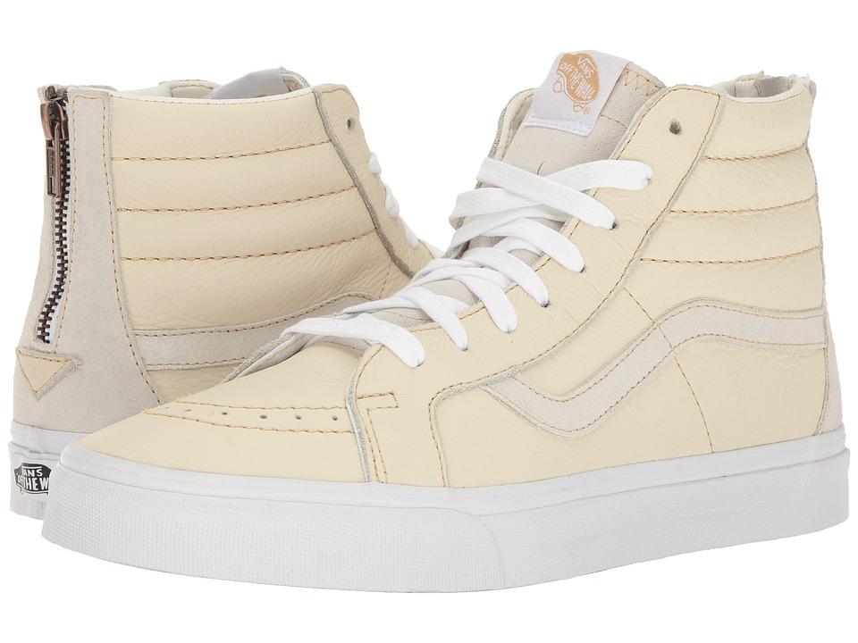 Vans - SK8-Hi Reissue Zip ((Premium Leather) White/Sand) Lace up casual Shoes