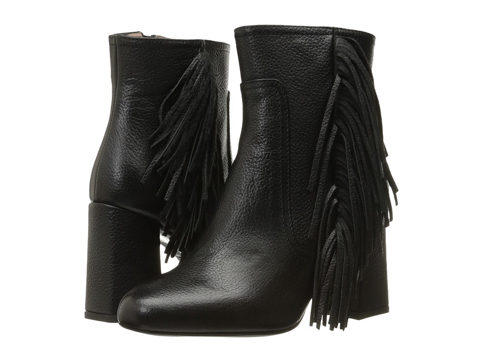 Boutique Moschino Goat Fringe Bootie (Black Goat) Women