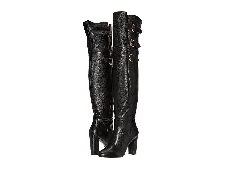 Boutique Moschino - Goat Buckle Boot (Black Goat) Women's Dress Boots
