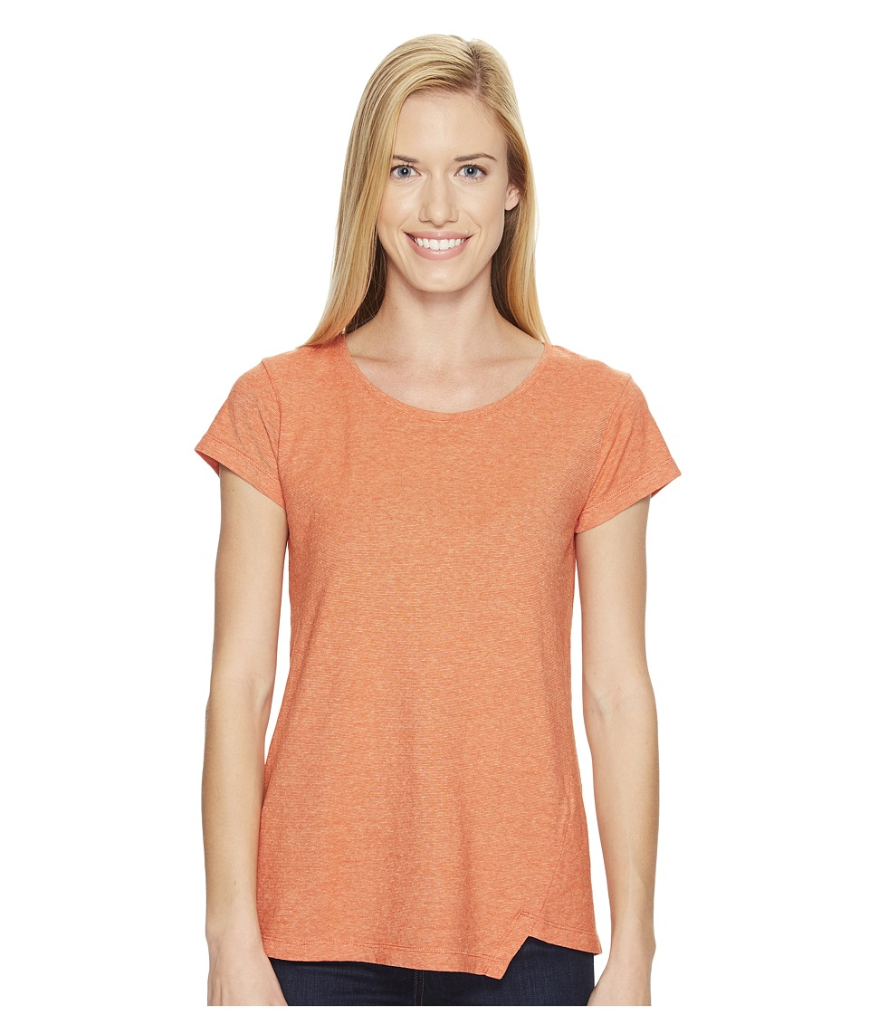 NAU - Short Sleeve Kanab Top (Poppy Heather) Women's Clothing