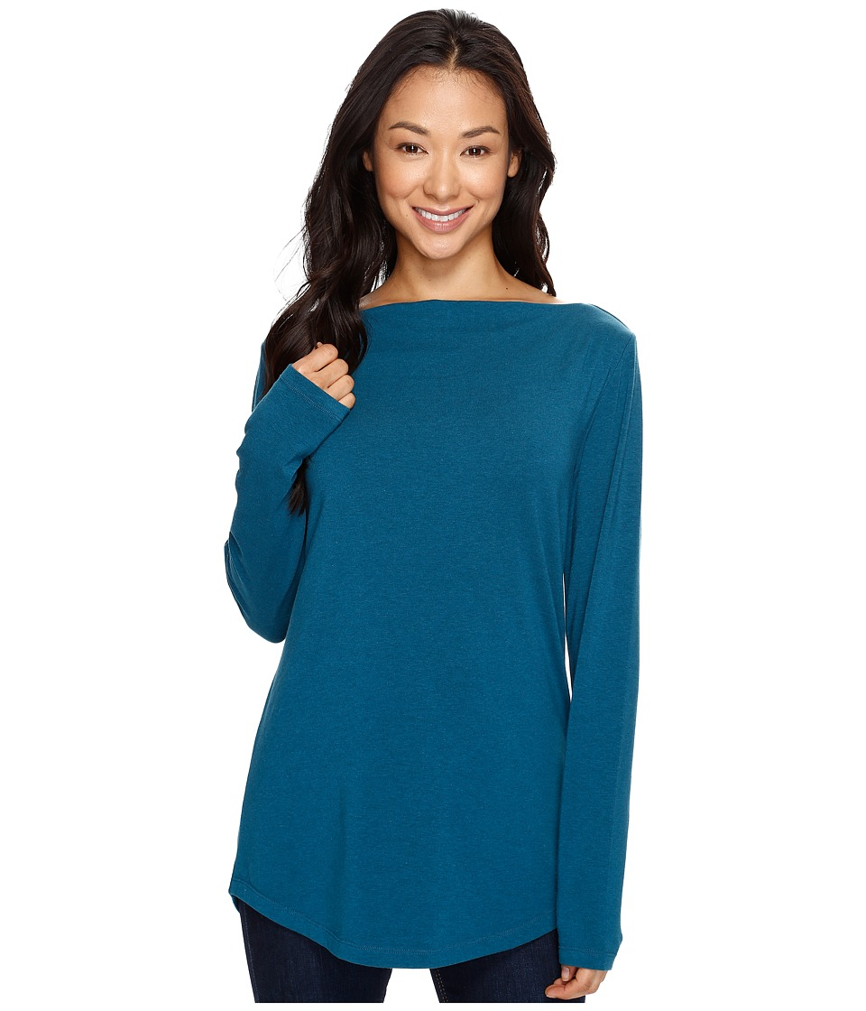 NAU - Long Sleeve Astir Cowl Neck Top (Peacock) Women's Long Sleeve Pullover