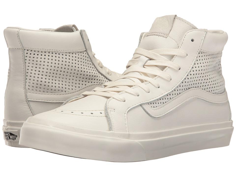 Vans - Sk8-Hi Slim Cutout DX ((Square Perf) Blanc De Blanc) Skate Shoes