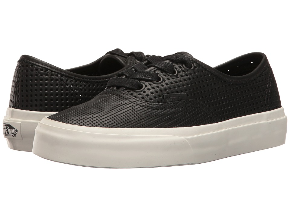 Vans - Authentic DX ((Square Perf) Black) Skate Shoes