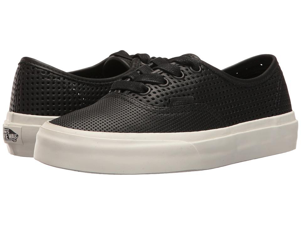 Vans - Authentic DX ((Square Perf) Black) Skate Shoes