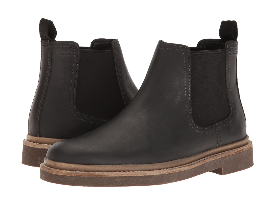 Clarks Bushacre Up (Black Leather) Men
