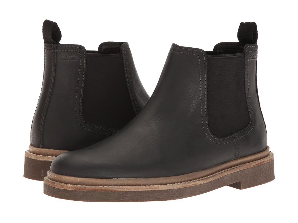 Clarks Bushacre Up (Black Leather) Men