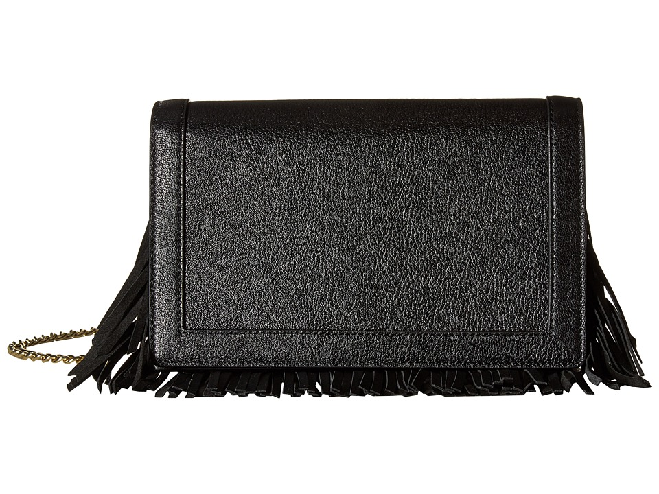 Boutique Moschino - Fringes Crossbody (Black) Cross Body Handbags