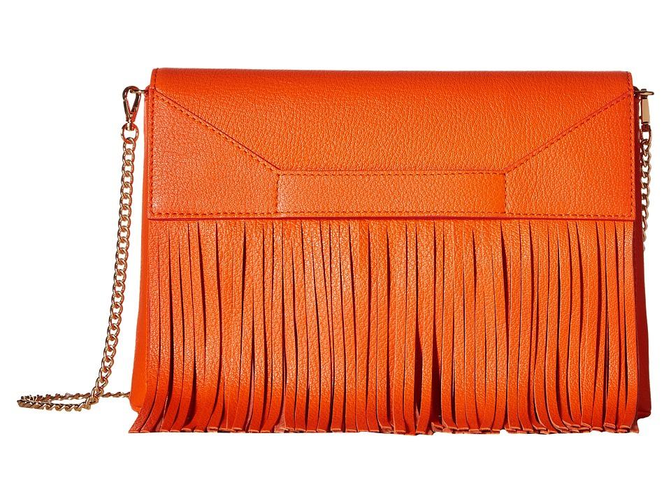 Boutique Moschino - Fringes Shoulder Bag (Red 0041) Shoulder Handbags