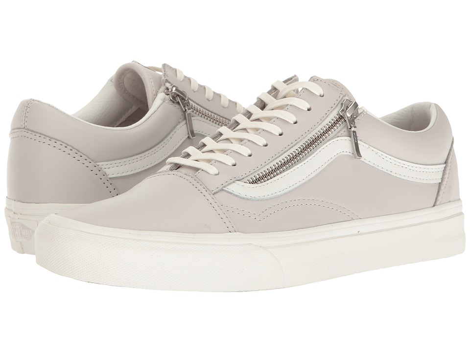 Vans - Old Skool Zip ((Leather) Wind Chime/Blanc De Blanc) Lace up casual Shoes