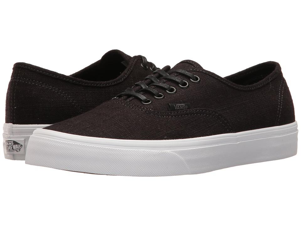 Vans - Authentictm ((Hemp Linen) Black/True White) Skate Shoes