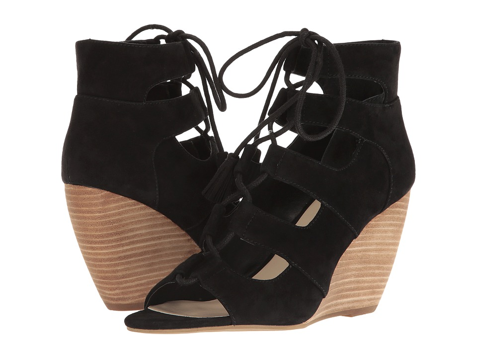 Seychelles - Delirious (Black Suede) Women's Wedge Shoes
