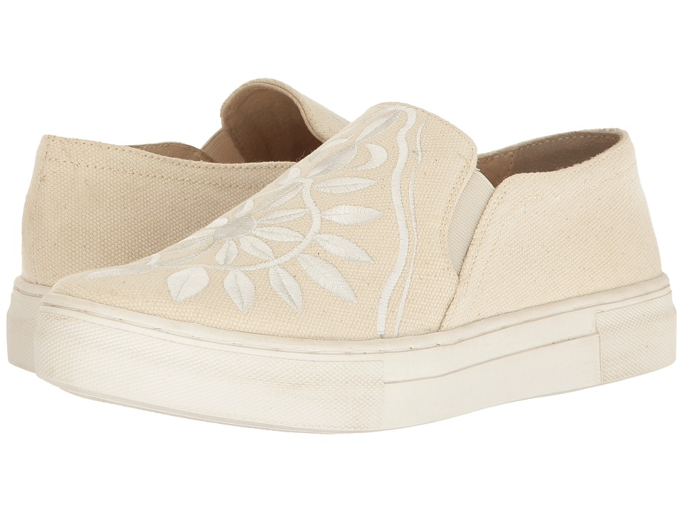 Seychelles - Sunshine (Natural Canvas/White Embroidery) Women's Slip on Shoes