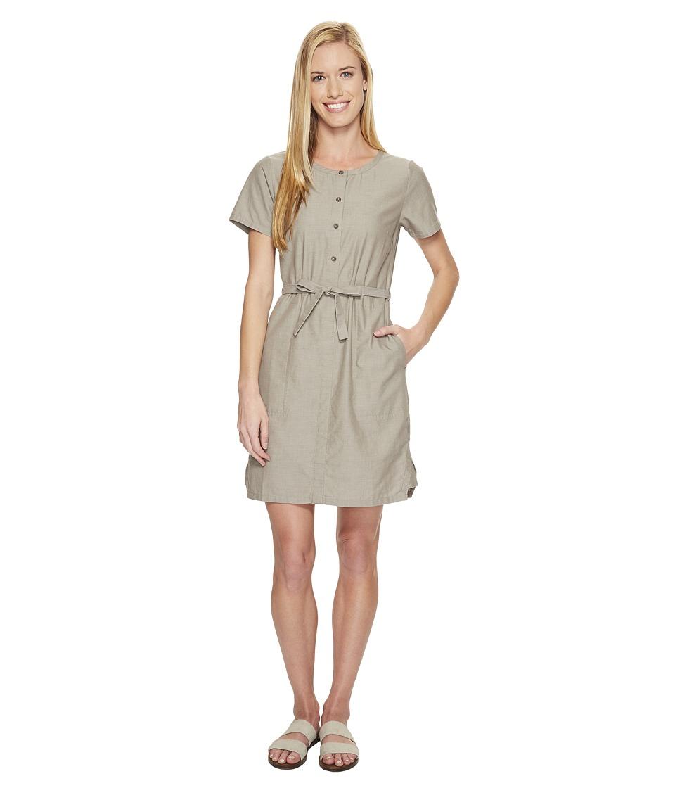 NAU - Short Sleeve Twisted Dress (Sable) Women's Dress