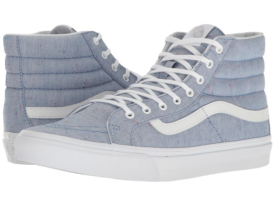 Vans - SK8-Hi Slim ((Speckle Jersey) Blue/True White) Skate Shoes
