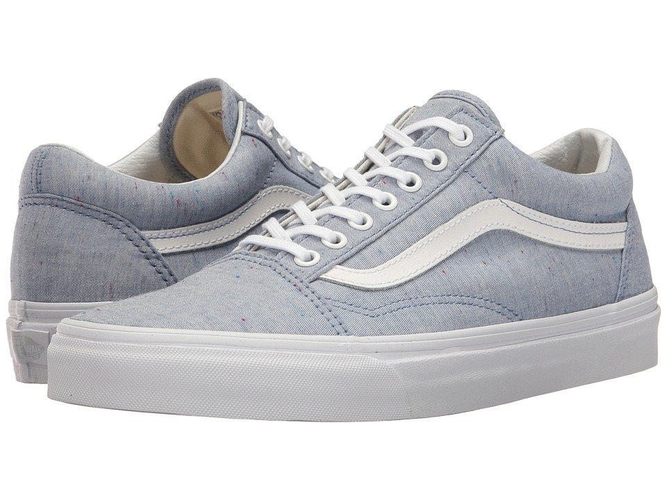 Vans - Old Skooltm ((Speckle Jersey) Blue/True White) Skate Shoes